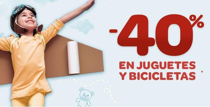 Cenagal oportunidad condón  Promoción! 40% de descuento en juguetes y bicicletas en Carrefour